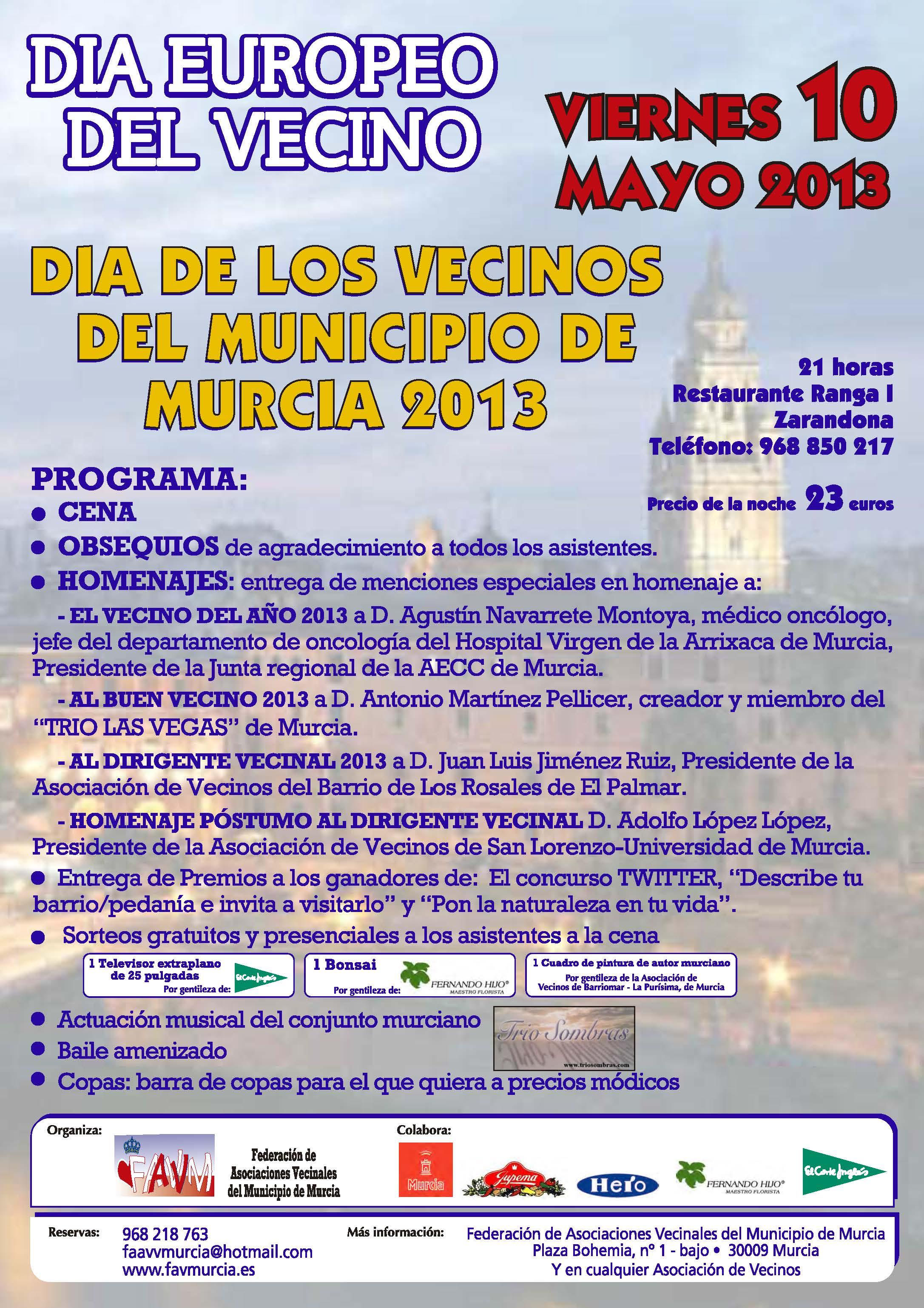 federacion asociaciones vecinos cartagena: