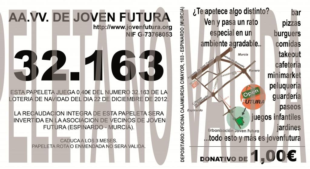 Papeleta 2012 A.V. de Joven Futura nº 32163