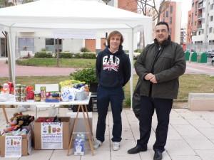 Nuestro presidente Chencho con Jose, el alcalde-pedaneo de Espinardo, apoyando la causa.