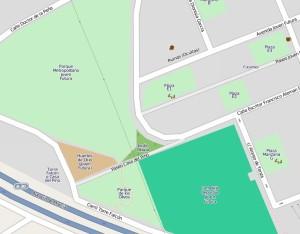 Ubicación Jardín Okupa - Colaboradores openstreetmap.org