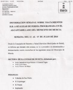 Comunicado Ayto desratización desinsectación Julio 2016