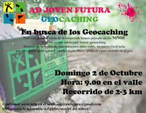 Cartel salida geocaching ADJF
