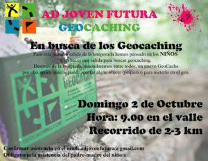 Cartel salida geocaching ADJF