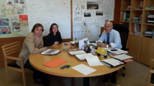 2016-11-18 Reunidos con el Concejal de Transportes Roque Ortiz