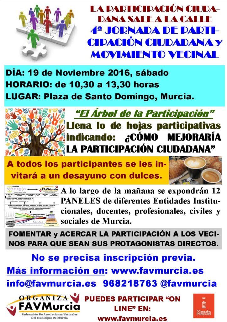 Cartel 4ª Jornada de Participación Ciudadana