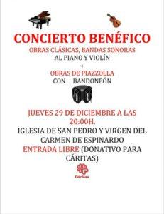2016-12-29 Cartel concierto a favor de Cáritas