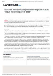 2017-02-07 Navarro dice que la legalización de Joven Futura _sigue su cauce paso a paso_ - www.laverdad.es