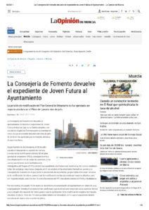2017-02-08-La-Consejeria-de-Fomento-devuelve-el-expediente-de-Joven-Futura-al-Ayuntamiento---La-Opinion-de-Murcia