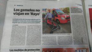 2017-02-01 La Verdad - Denuncia sobre carritos gemelares