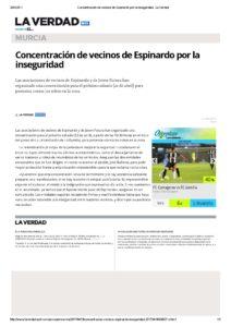 2017-04-19 Concentración de vecinos de Espinardo por la inseguridad - La Verdad