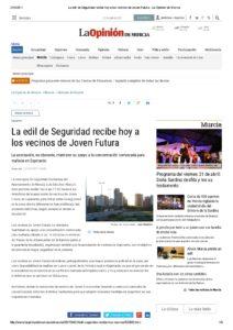 2017-04-21 La edil de Seguridad recibe hoy a los vecinos de Joven Futura - La Opinión de Murcia