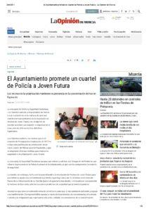 2017-04-22 El Ayuntamiento promete un cuartel de Policía a Joven Futura - La Opinión de Murcia