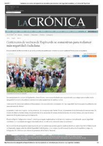 2017-04-24 Centenares de vecinos de Espinardo se concentran para reclamar más seguridad ciudadana - La Crónica del Pajarito