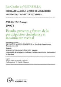 2017 Cartel Charlas Vistabella - Pindado