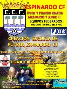 2017-05-29 Cartel Espinardo C.F. Nuevas categorías 2017