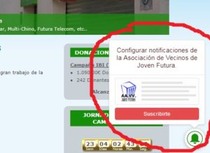 Notificaciones web AVJF