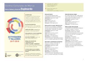 Actividades 2017-2018 Centro Cultural Espinardo