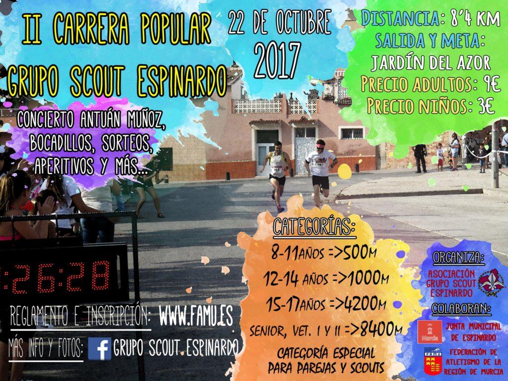 Cartel II Carrera Scout Espinardo 2017
