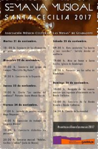 Semana Musical - Santa Cecilia 2017 - Calendario