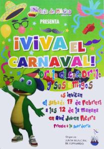 Cartel Drilo el cocodrilo y sus amigos Carnaval en Joven Futura