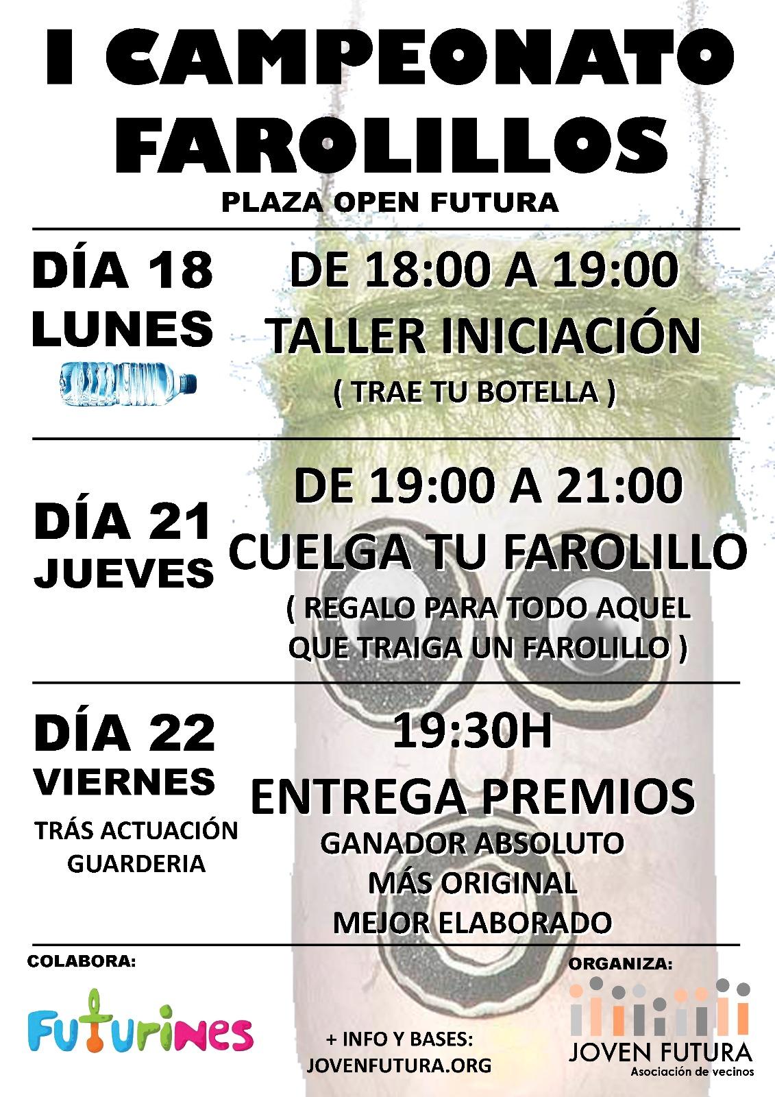 2018-06-12 Cartel Taller Farolillos Joven Futura