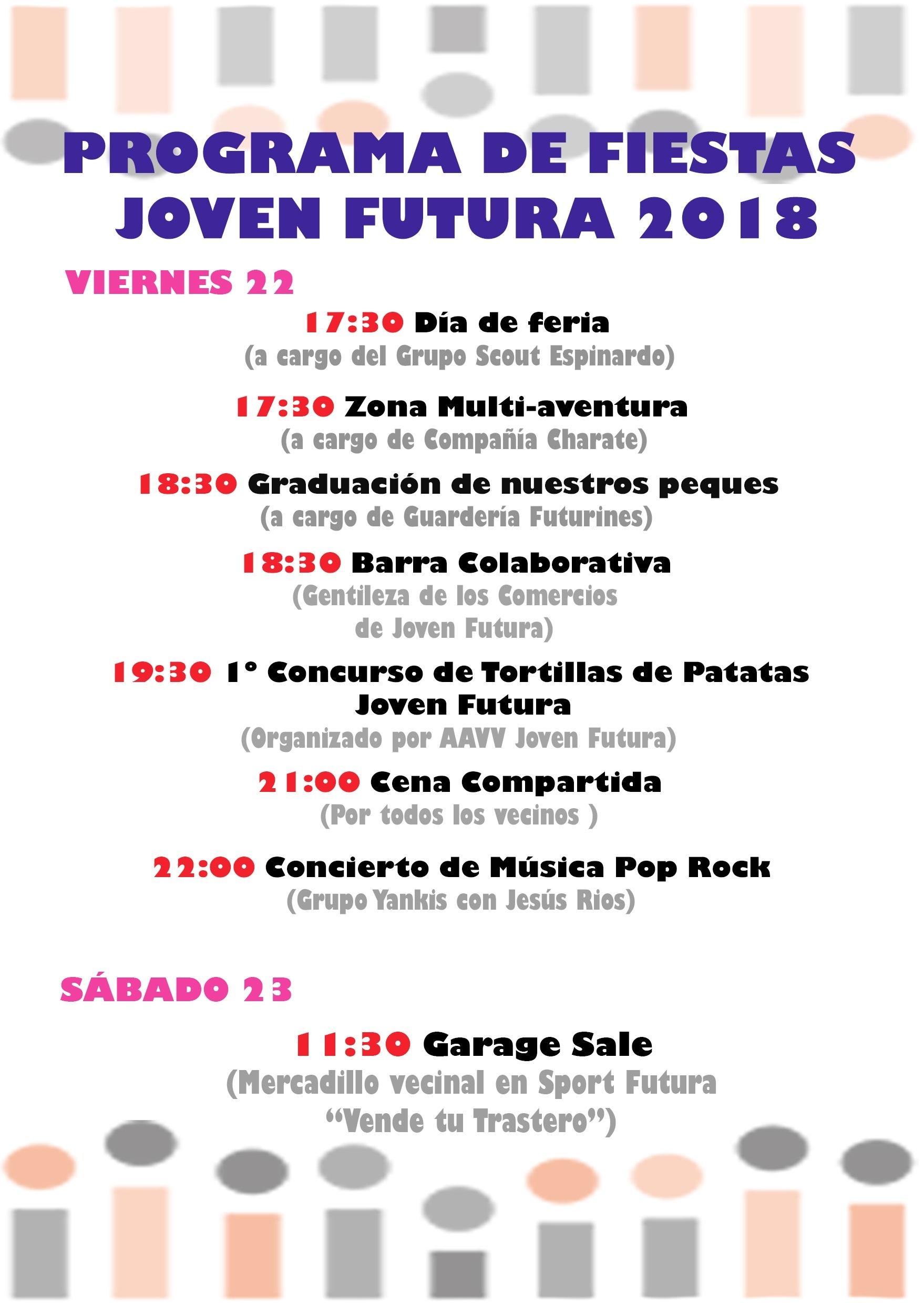 2018-06-12 Programa de Fiestas Joven Futura 2018