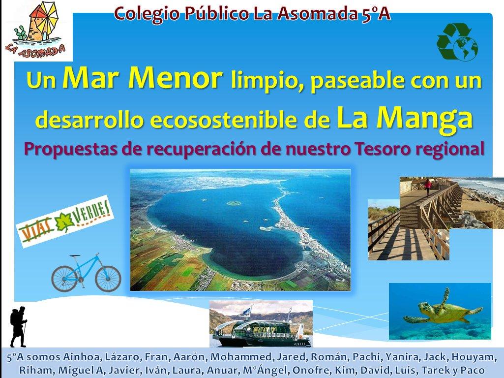 2018-07-17 Colegio Público La Asomada 5ºA - Soluciones al Mar Menor - @PaCorrs