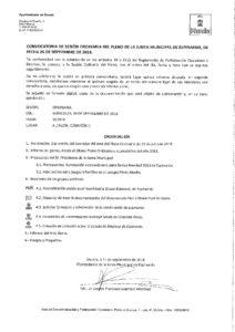 2018-09-25 CONVOCATORIA PLENO ORDINARIO JM ESPINARDO 26 SEPTIEMBRE 2018