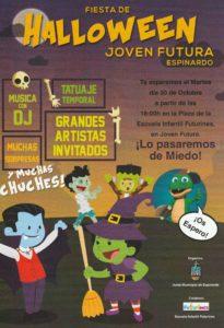 2018-10-30 Cartel Halloween 30-octubre-2018 por la Junta Municipal Espinardo en Joven Futura