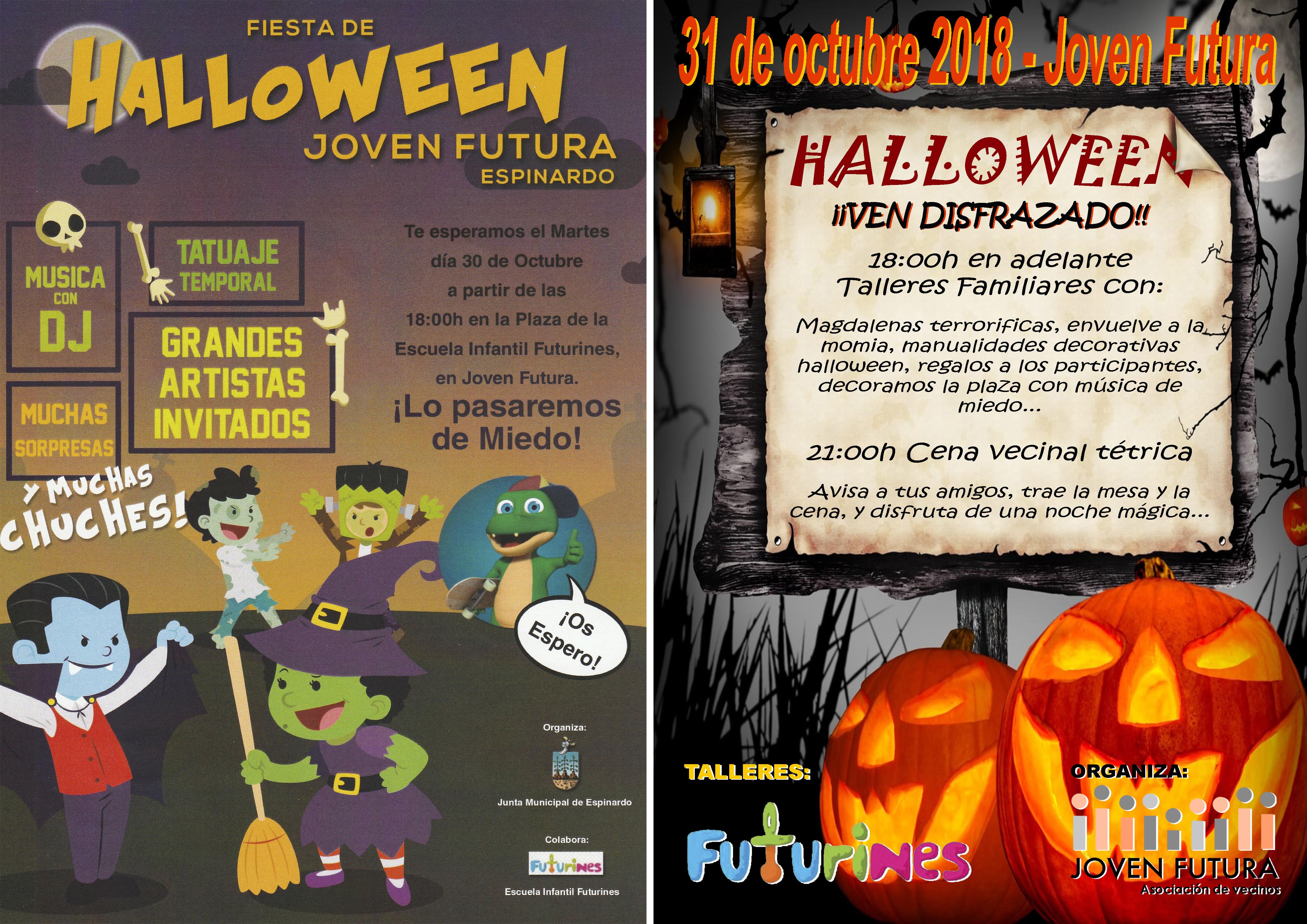2018-10-31 Cartel Halloween 2018 Junta Municipal y Asociación Vecinos Joven Futura