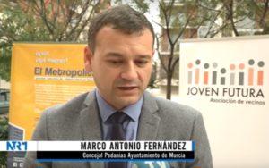 2018-11-23 Presentación Proceso #ElMetropolitano - Joven Futura - Marco Antonio Fernández - Concejal Pedanías Ayto Murcia
