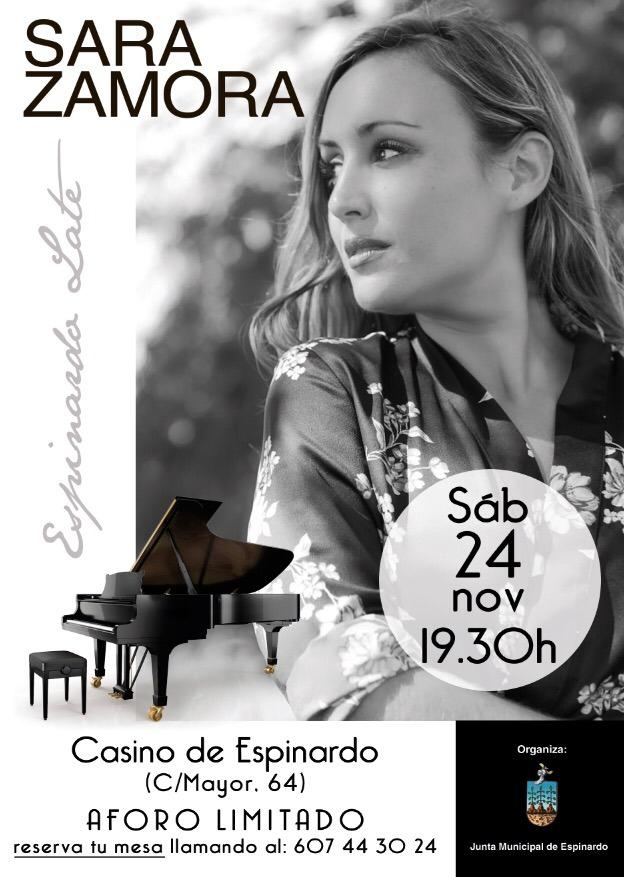 2018-11-24 Cartel Sara Zamora - Concierto Casino Espinardo