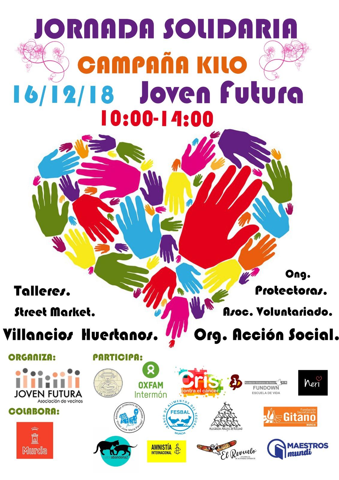 2018-12-16 Cartel Jornada Solidaria Joven Futura, Campaña Kilo 2018