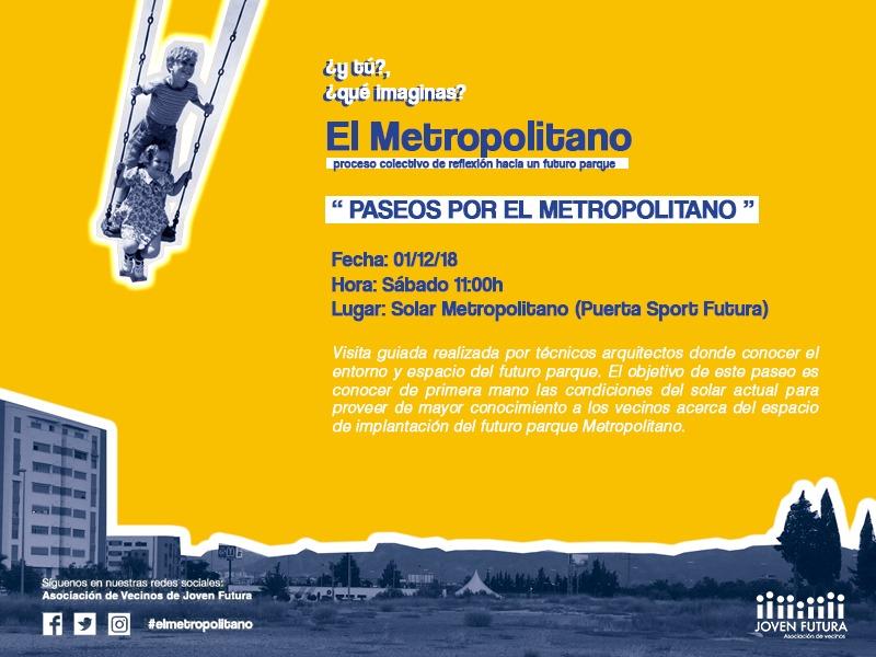 1-12-2018 Cartel Taller Paseos por #ElMetropolitano #JovenFutura
