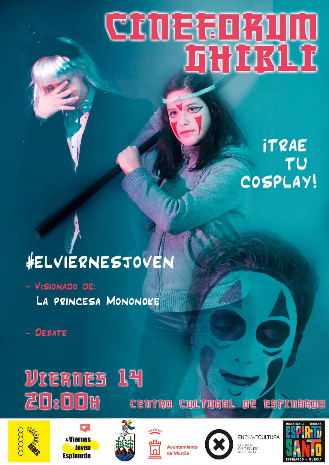 Cartel Cosplay Centro Cultural Espinardo 14-12-2018
