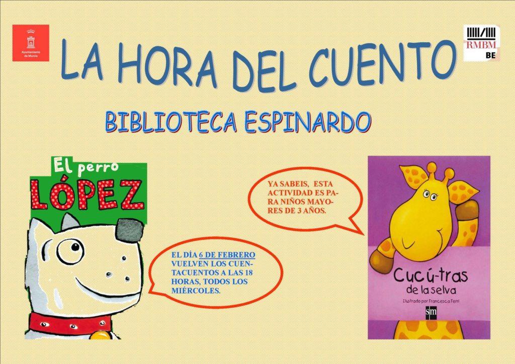 2019-02-06 Cartel Cuentacuentos Biblioteca Espinardo