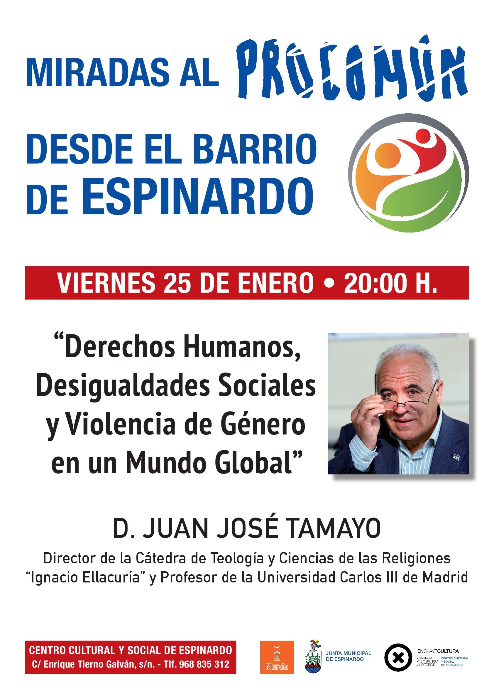 2019-01-25 Cartel Conferencia Juan José Tamayo - centro Cultural de Espinardo