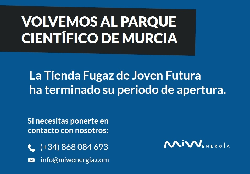 2019-01-28 Despedida cartel tienda miwenergia en Joven futura