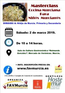 MasterClass Cocina Murciana.