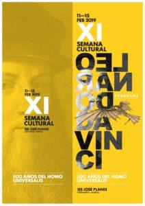 2019-02-11 al 15 Tríptico con Programa de la XI Semana Cultural 18-19 - IES José Planes - Espinardo - A