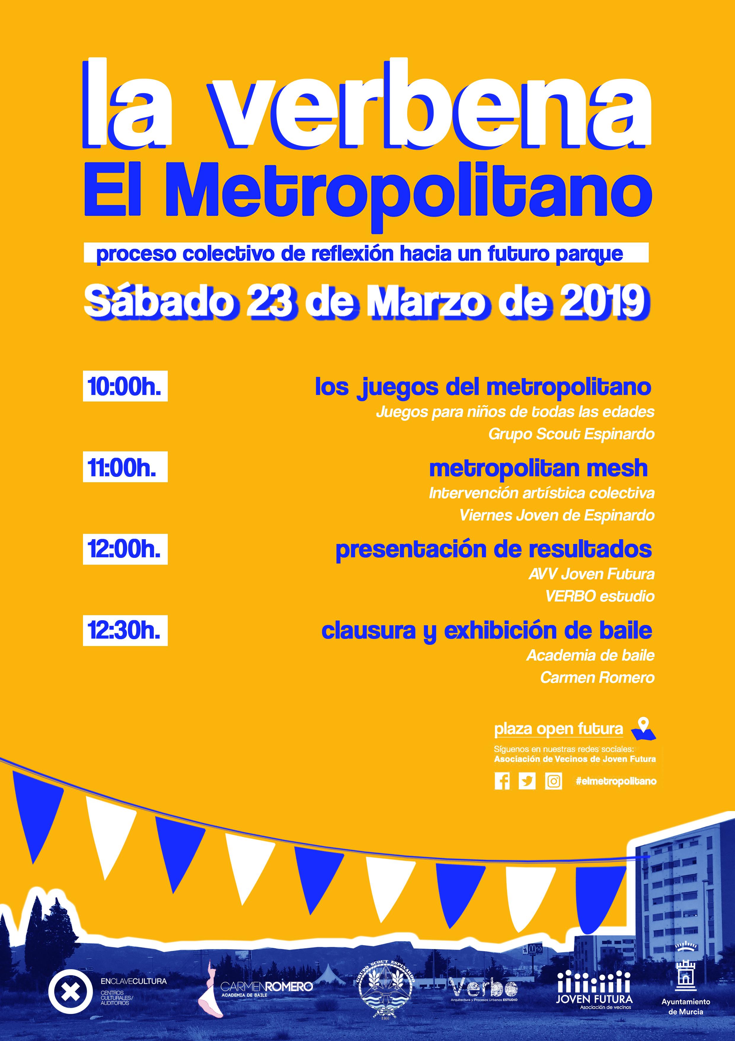 2019-03-23 Cartel Programa Verbena #ElMetropolitano