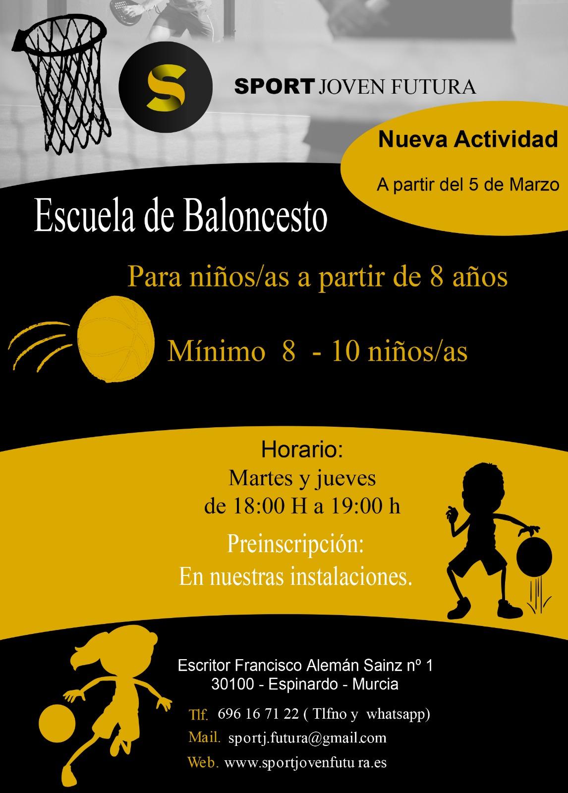 Escuela Baloncesto Sport Joven Futura