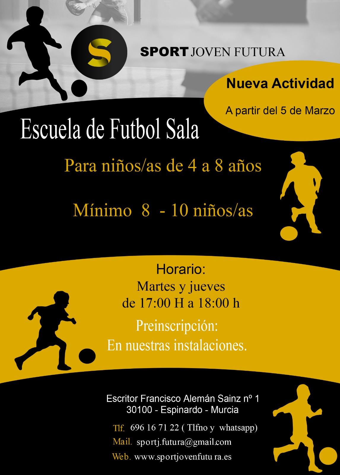 Escuela Fútbol Sala Sport Joven Futura