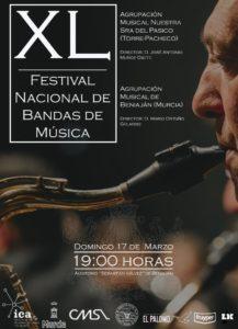Cartel XL Festival nacional de bandas de música