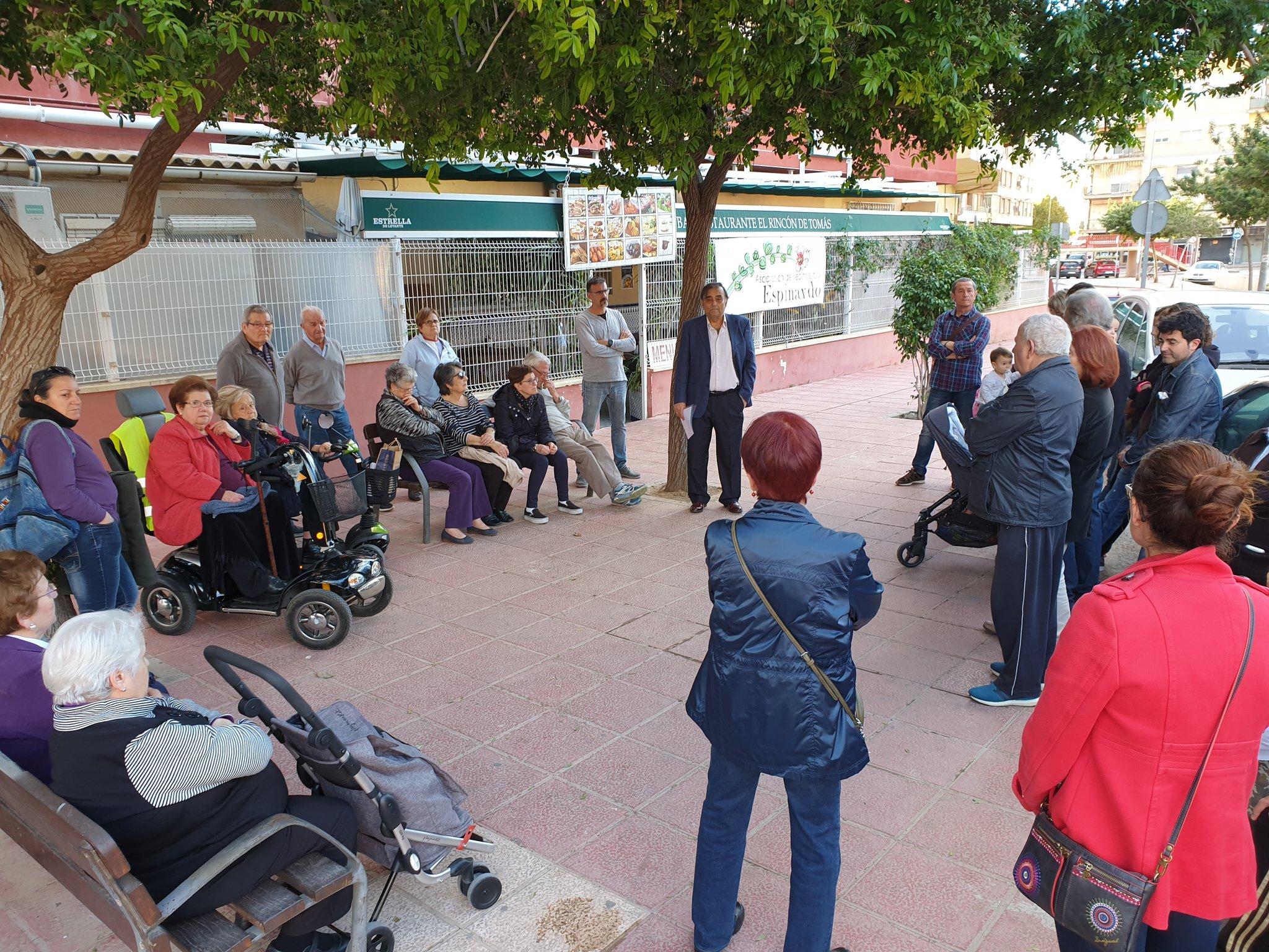 2019-04-25 Concentración Seguridad Vial Asociación Vecinos por Espinardo