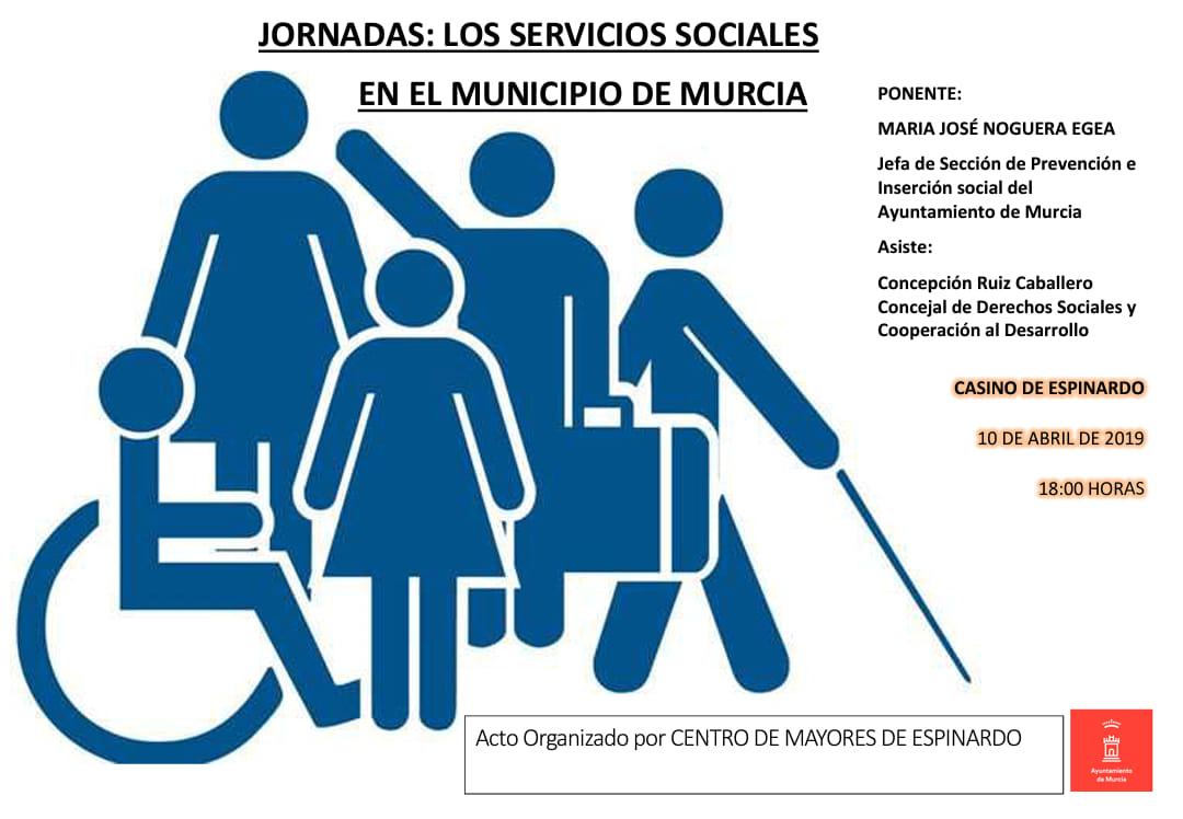 Cartel Jornada Los Servicios Sociales en el Municipio de Murcia