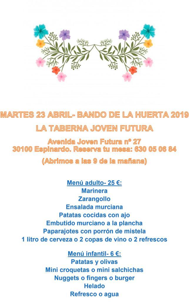 LA TABERNA DE JOVEN FUTURA - PROMOCION BANDO DE LA HUERTA 2019