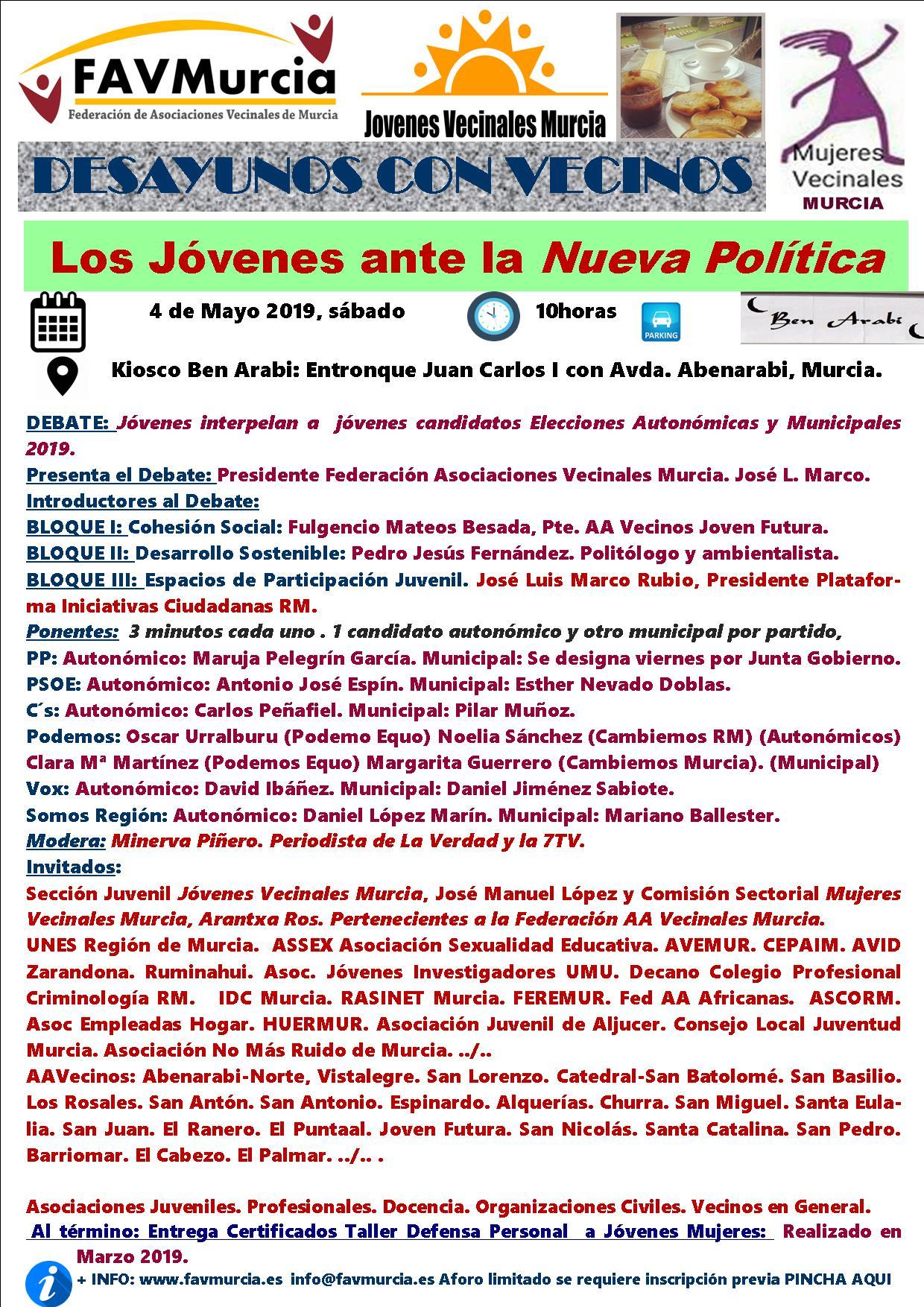 2019-05-04 Cronograma - Los jóvenes ante la nueva política - FAVMurcia