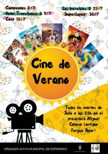 Cartel 2019 julio - Cine de verano en Espinardo