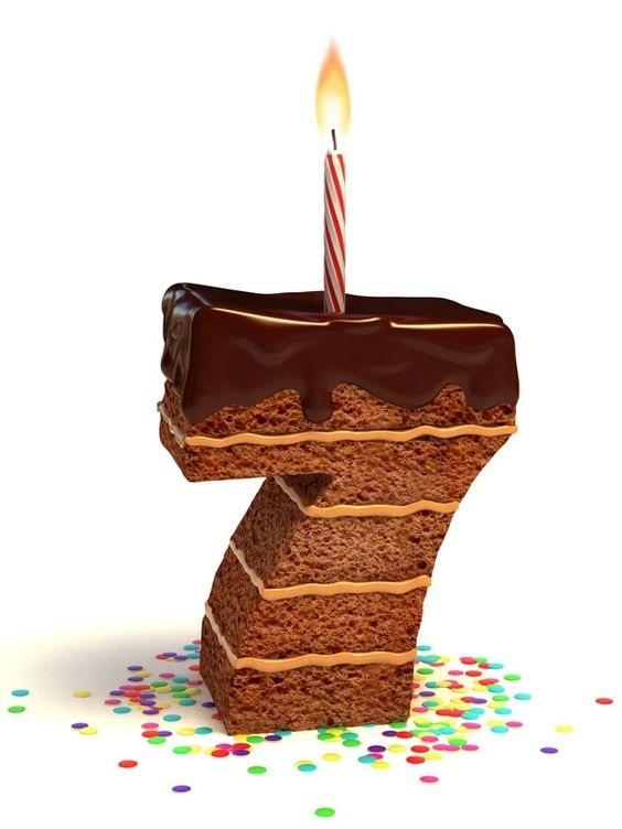 Vela con tarta 7 años